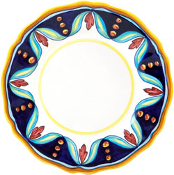 Dinner Plate #ES4 - Simplified Pattern, Deruta, Italy