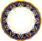 Dinner Plate #ES7 - Simplified Pattern, Deruta, Italy