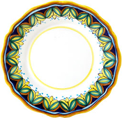 Dinner Plate #ES8 - Simplified Pattern, Deruta, Italy