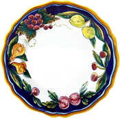 Dinner Plate #ES9 - Simplified Pattern, Deruta, Italy