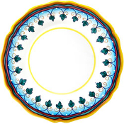 Dinner Plate #ES6 - Simplified Pattern, Deruta, Italy