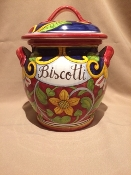 "IMA - Biscotti Jar 10"" - Montelupo, Italy (Special Order)"