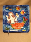 De Simone Mermaid Wall Plate 10""