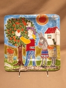 De Simone Orange Harvest Wall Plate 10""