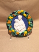 "Della Robbia Mother & Child 6"" by Dolfi - Florence, Italy"