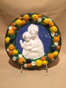 "Della Robbia Mother and Child 9""d"