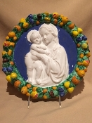 "Della Robbia Mother and Child 12""d"