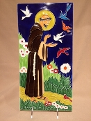 Luciano - St Francis tile - 8 x 16 inches