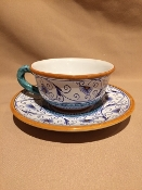 MOD Deruta, Italy - Penny Pattern, Cup and Saucer