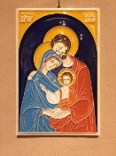 Luciano Holy Family Tile 4 x 6 inches