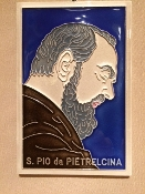 Luciano Padre Pio Tile 4 x 6 inches