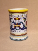 "Utensil Holder - Ricco pattern 4.5x6.5""h -  Deruta, Italy"