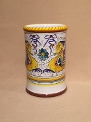 "Utensil Holder - Raffaellesco pattern 4.5x6.5""h -  Deruta, Italy"