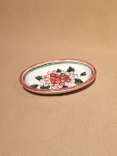 "Oval Tray 4 x 6"" - Ortensia Pattern - Deruta, Italy"