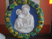 "Della Robbia Mother and Child 28"" - Montelupo, Italy"