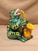 "Dolfi Frog with Saxaphone 4 x 4 x 6""h - Florence, Italy"
