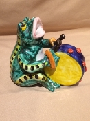 "Dolfi Frog with Squeeze box 5 x 6 x 6""h - Florence, Italy"
