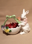 "K & B Rabbit w/Candy Basket 3 x 8 x 6""h (Candy not included)"